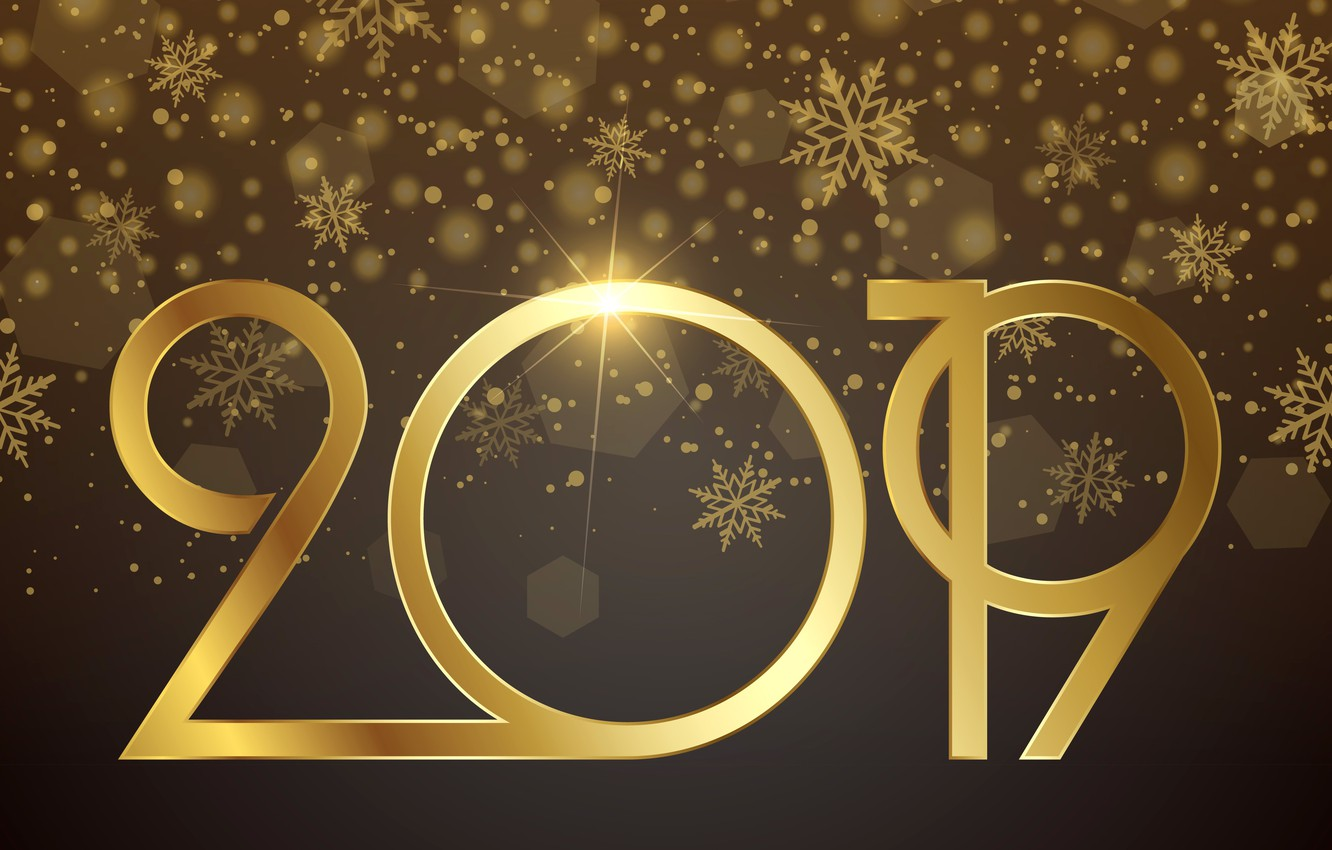 Wallpaper gold, New Year, figures, golden, background, New Year