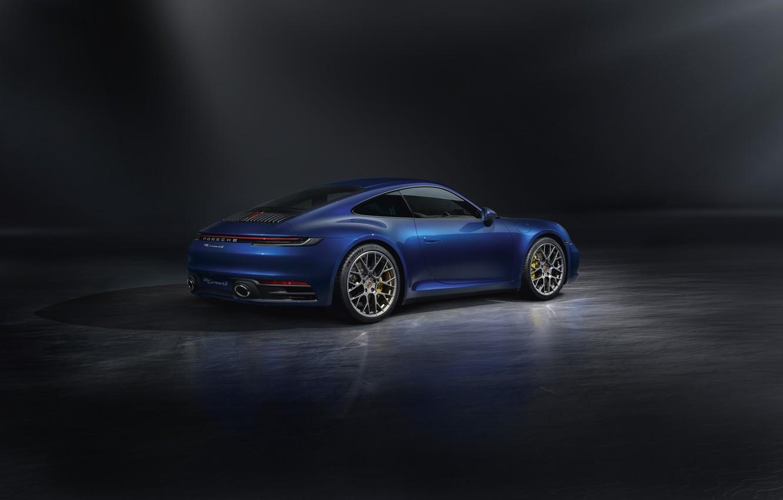 Photo wallpaper 911, Porsche, rear view, Carrera S, 2019