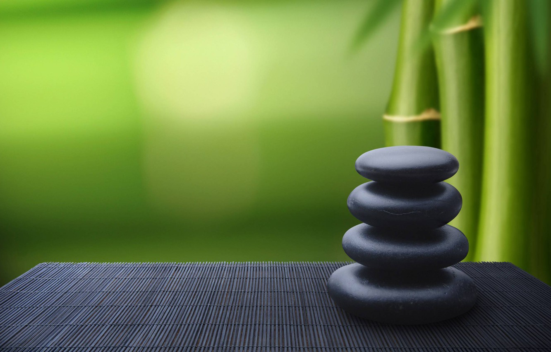 Wallpaper Stones Bamboo Relaxation Images For Desktop Section Raznoe Download