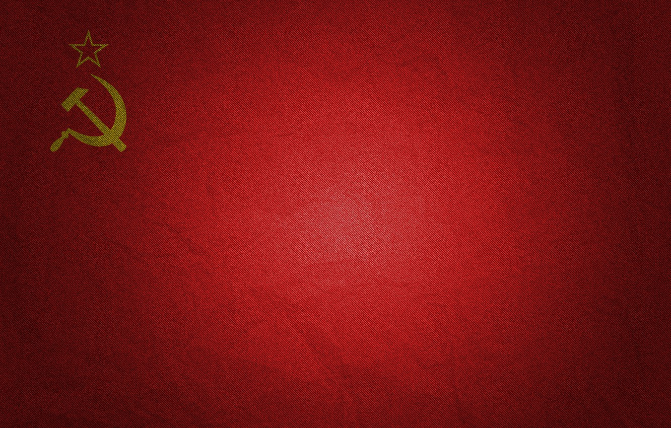 Photo wallpaper red, flag, USSR, the hammer and sickle, the flag of the USSR