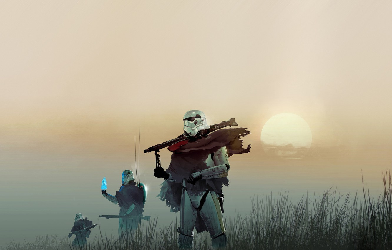 Wallpaper Star Wars Concept Art Fan Art Stormtroopers