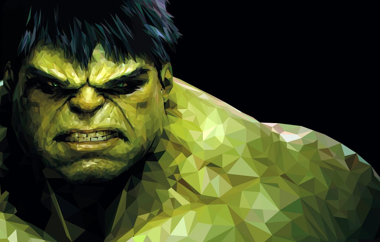 Wallpaper fiction, monster, green, black background, Hulk, Hulk