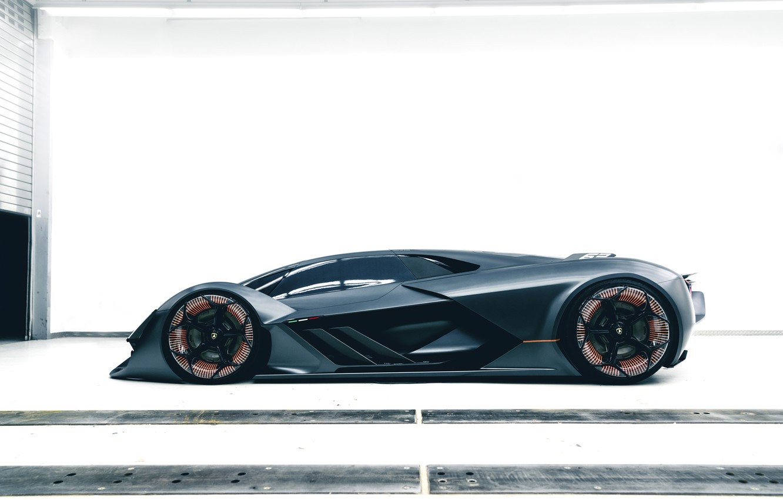 Photo wallpaper Lamborghini, side view, in profile, 2017, The Third Millennium Concept