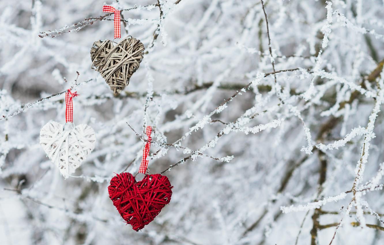 Photo wallpaper winter, snow, love, heart, love, heart, winter, snow, romantic, valentine