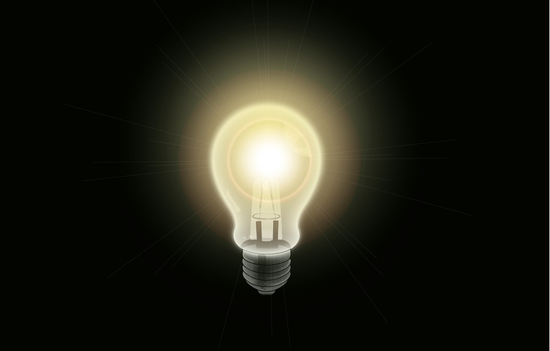 Photo wallpaper light bulb, light, background, electric
