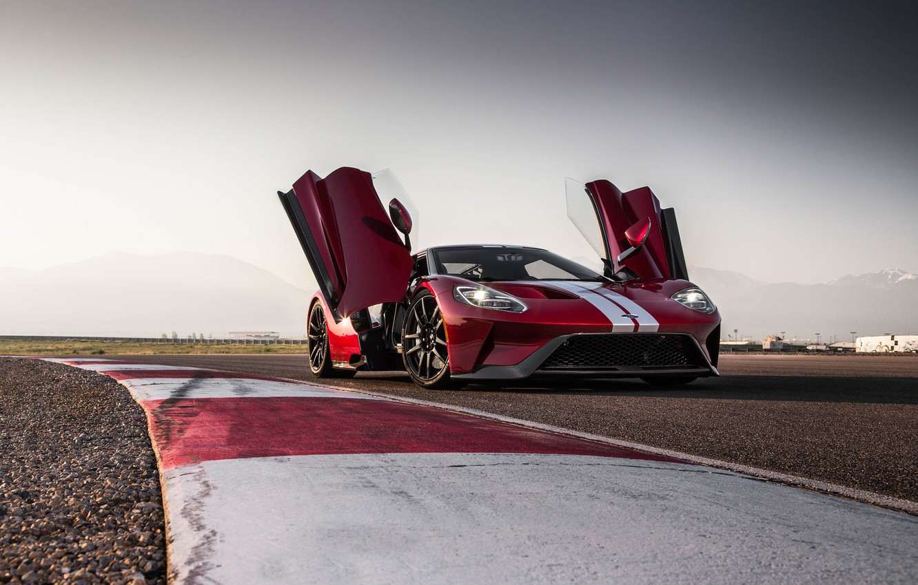 Photo wallpaper Ford, 2018, New, RED, Track