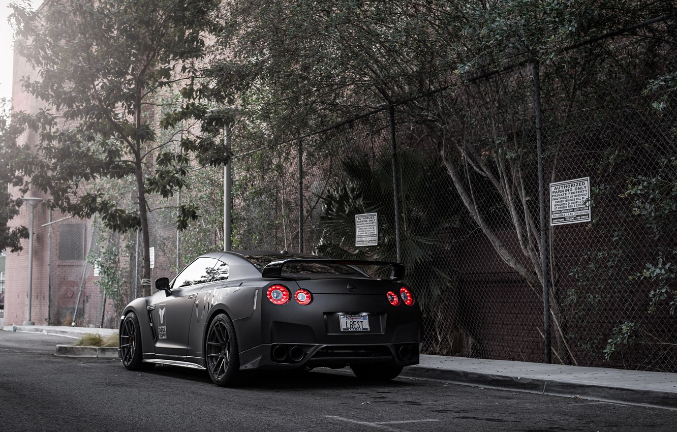 Photo wallpaper street, coupe, Nissan