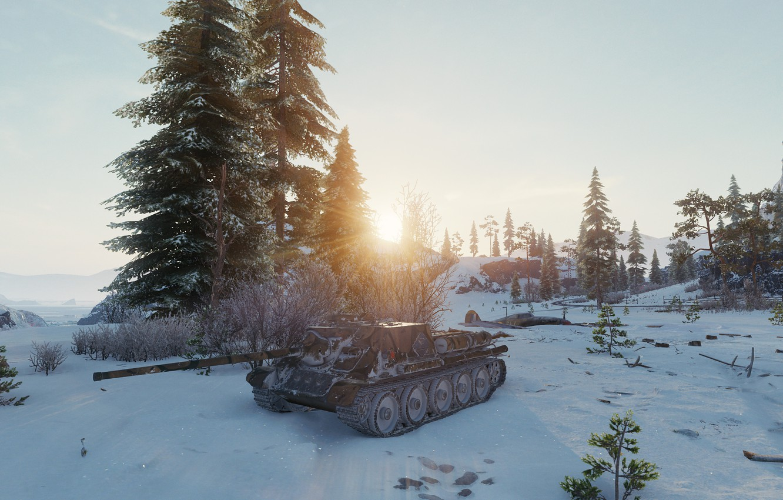 Photo wallpaper game, tanks, games, SU-100, Wot, world of taks