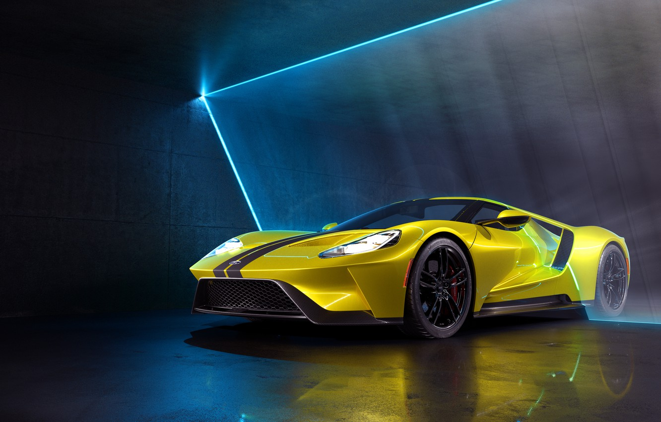 Photo wallpaper rendering, Ford, supercar, Ford GT, CGI, 2019, by Marc Shephard