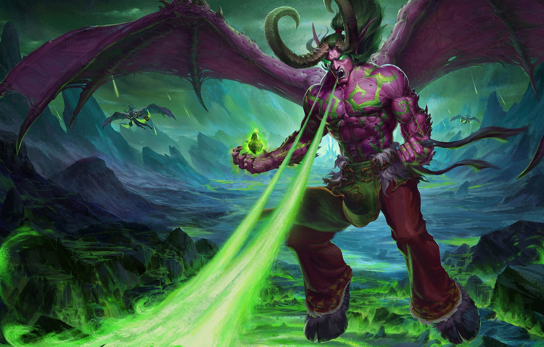 Wallpaper The Game Illidan The Demon Wow Stormrage Warcraft