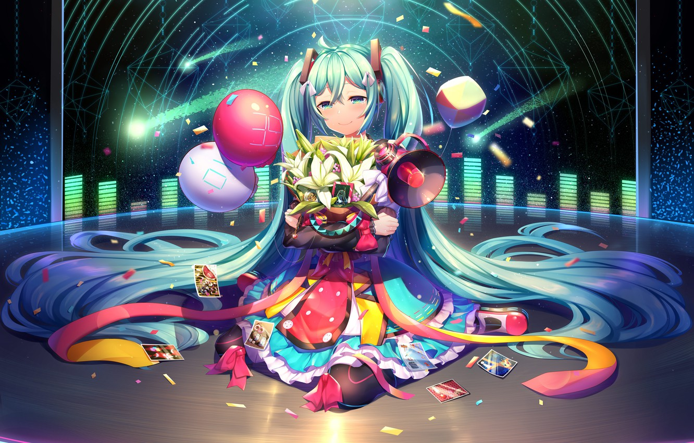 Wallpaper Girl Girl Anime Vocaloid Hatsune Miku Images For
