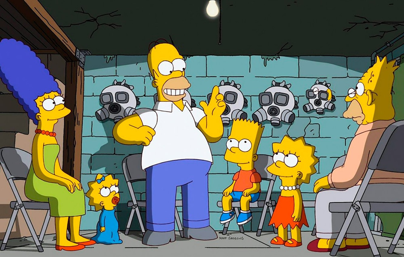 Photo wallpaper The simpsons, Simpsons, the animated series, bunker, isolation