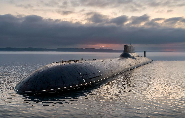 Photo wallpaper shark, underwater, cruiser, heavy, atomic, rocket, Dmitry, Donskoy