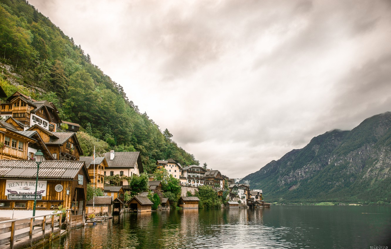 Photo wallpaper Lake, Austria, Austria, Hallstatt, Lake
