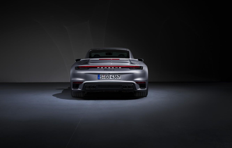 Photo wallpaper 911, Porsche, rear view, Turbo S, 2020, 992