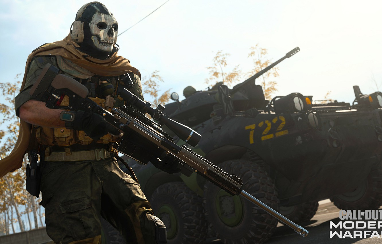 Wallpaper Skull Mask Soldiers Call Of Duty Sniper Rifle Call