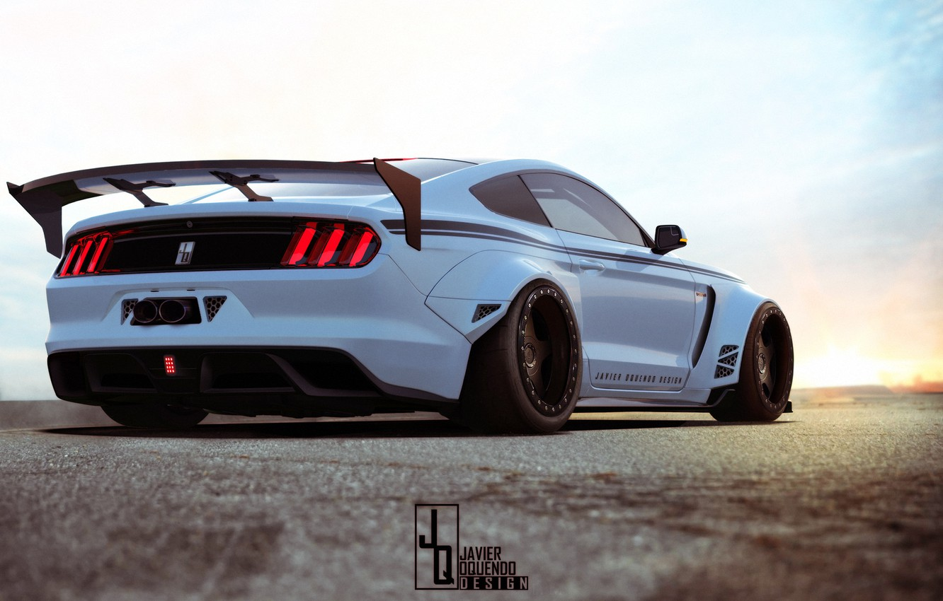 Photo wallpaper coupe, Muscle car, Shelby GT350R, Javier Oquendo, high-tech version of Ford Mustang