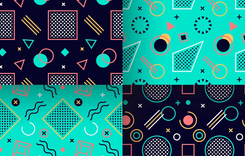 Wallpaper Blue Background Blue Pattern Geometry Images For Desktop Section Abstrakcii Download
