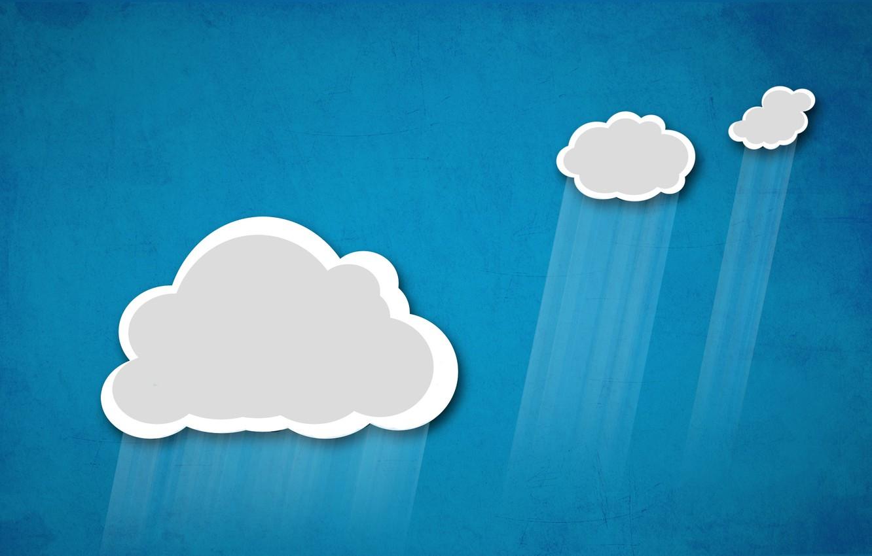 Photo wallpaper the sky, clouds, rain, applique