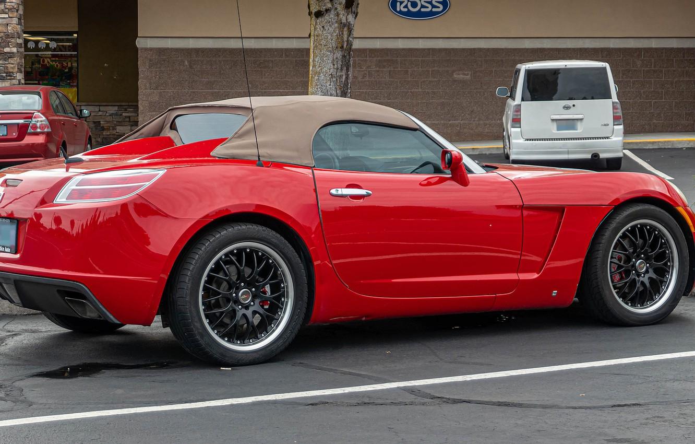 Photo wallpaper red, Roadster, sports car, Saturn Sky, 2007 Saturn Sky