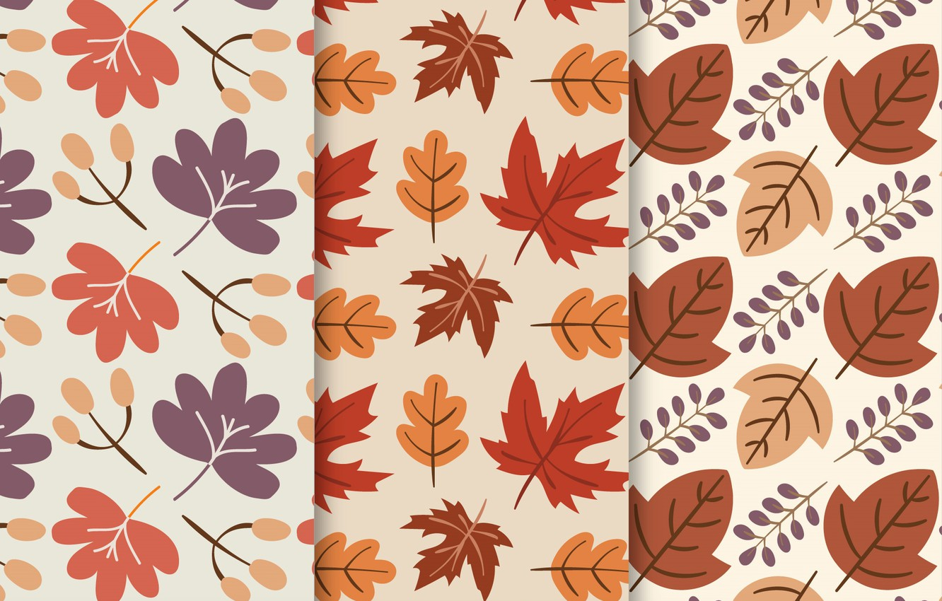 Photo wallpaper leaves, background, texture, pattern, Colors, Background, collection, Leaves, Hand