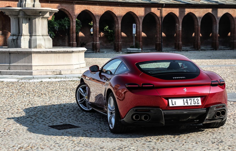 Photo wallpaper coupe, back, Ferrari, Roma, 2020, two-door
