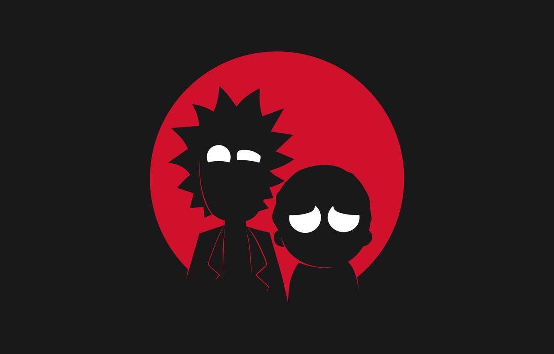 Photo wallpaper Minimalism, Silhouette, Smith, Cartoon, Sanchez, Rick, Rick and Morty, Rick and Morty, Morty, Rick Sanchez, …
