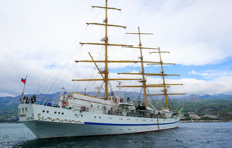 Photo wallpaper frigate, sailing, training, Hersonissos