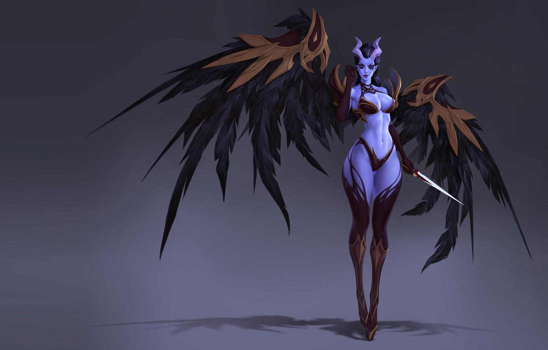 Wallpaper Wings The Demon Fantasy Art Horns Sergei