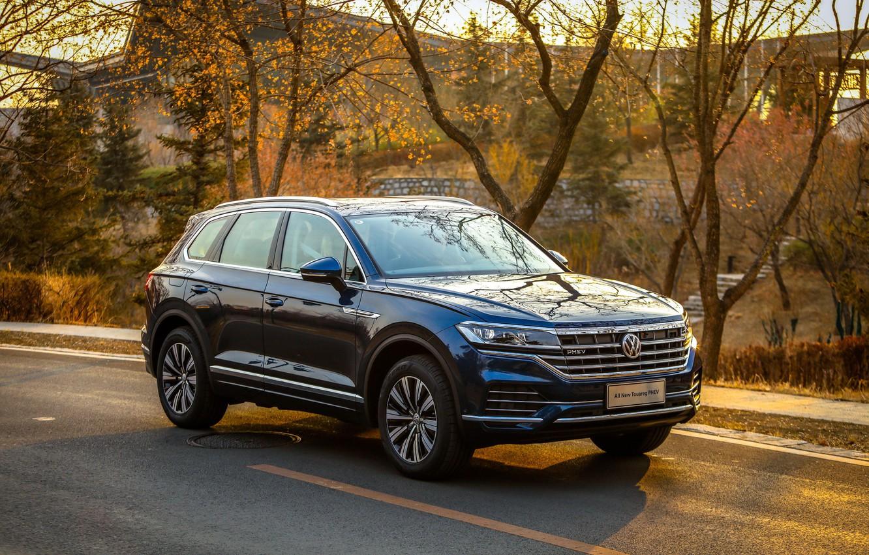 Photo wallpaper Volkswagen, Touareg, PHEV, Volkswagen Touareg, 2019, Volkswagen Touareg PHEV 2019