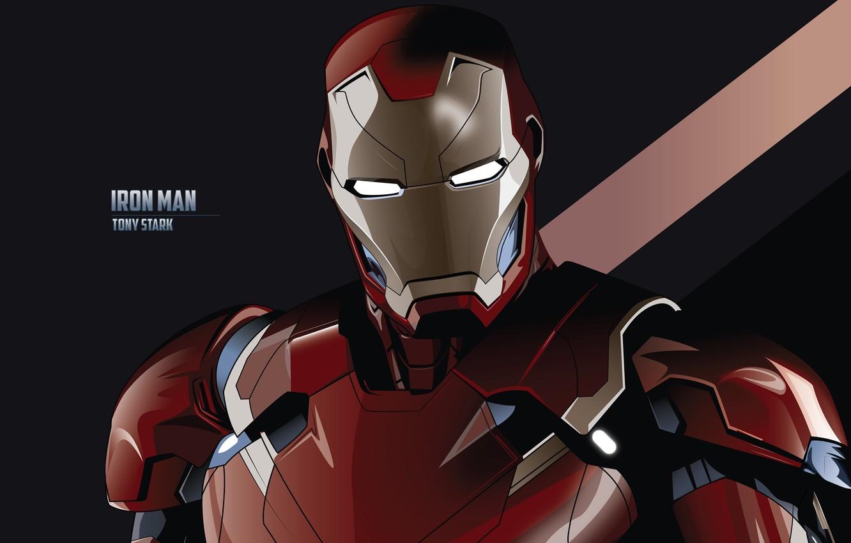 Photo wallpaper the inscription, art, costume, black background, Iron man, Iron Man, comic, MARVEL, Tony Stark