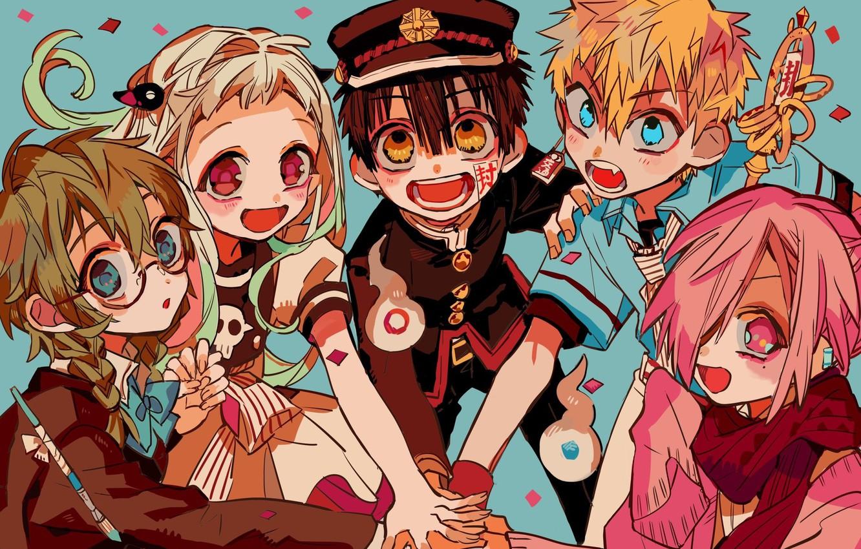 Photo wallpaper anime, art, characters, Toilet boy Hanako-kun, Jibaku Shounen Hanako-kun