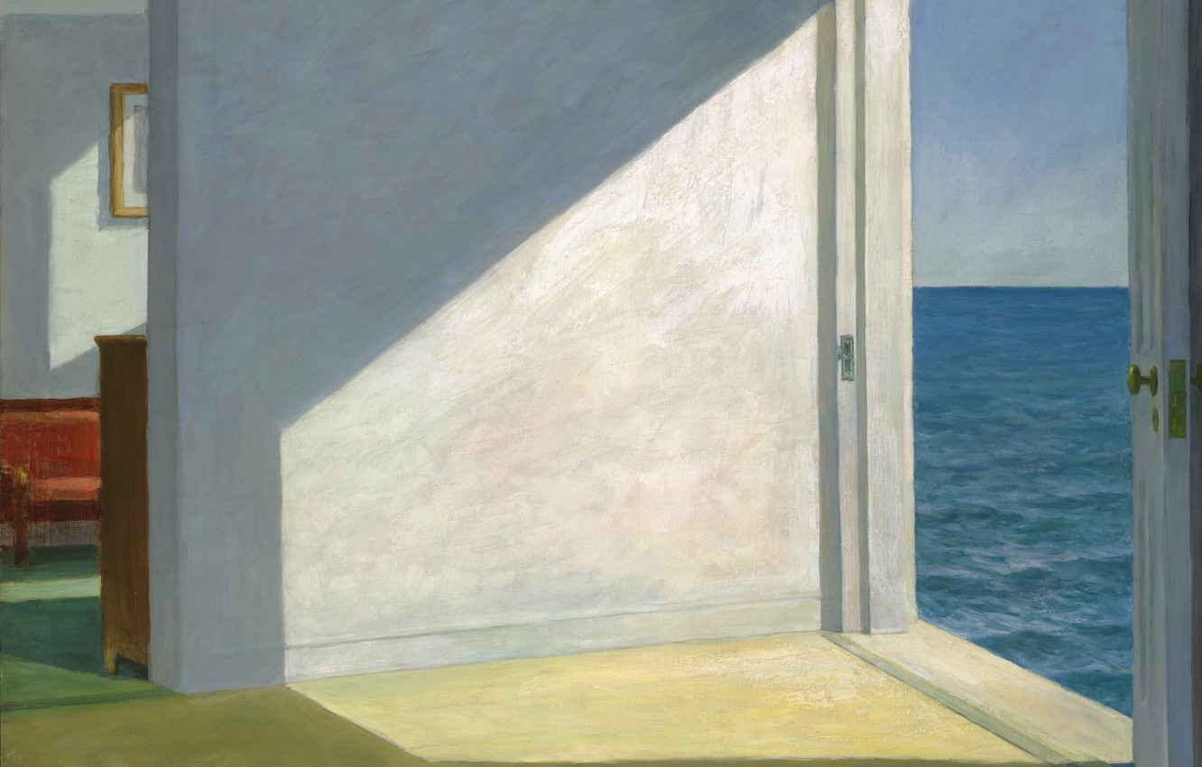 Photo wallpaper 1951, Edward Hopper, Rooms By The Sea