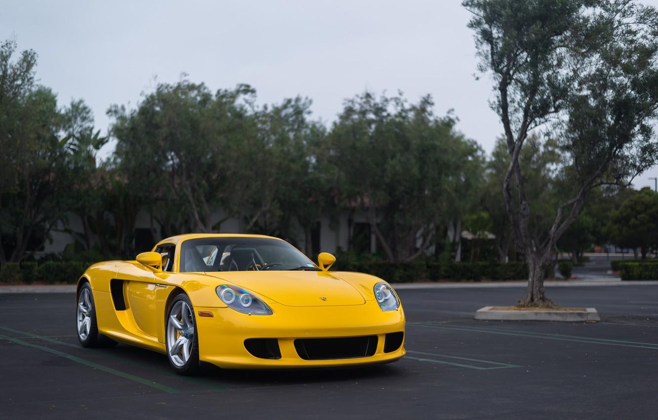 Photo wallpaper Porsche, Carrera, Yellow