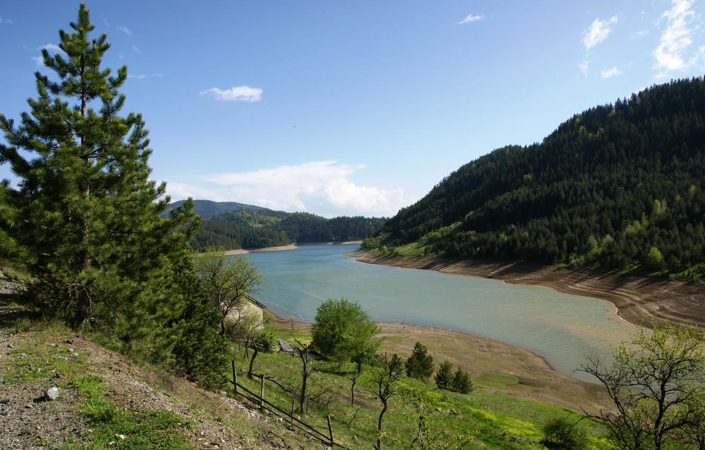 Photo wallpaper Lake, Landscape, Serbia, Zaovine