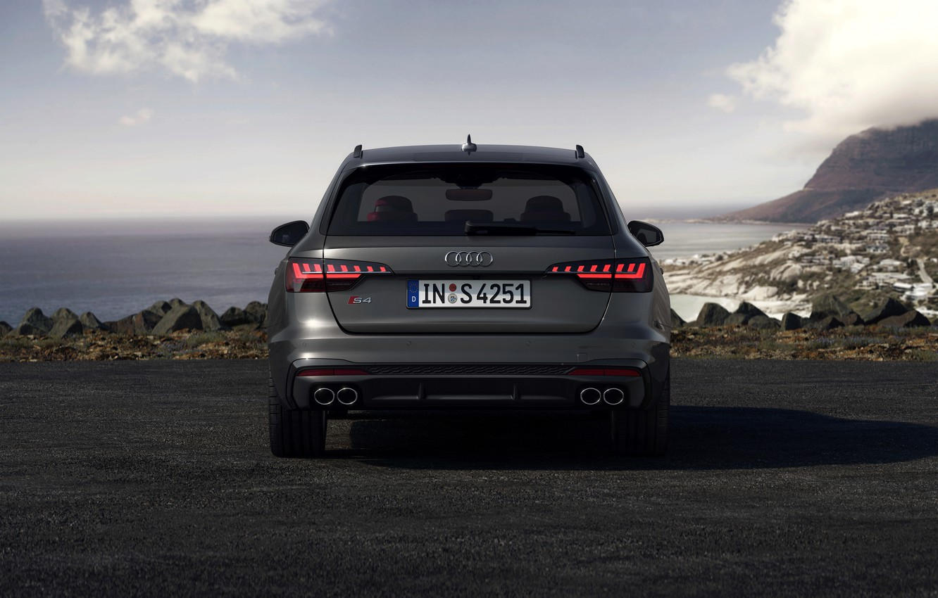 Photo wallpaper Audi, rear view, universal, 2019, A4 Avant, S4 Before