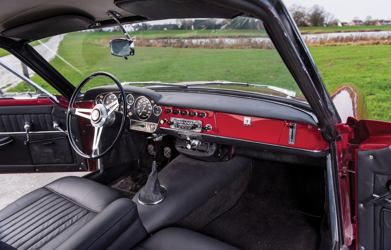 Photo wallpaper Salon, Speedometer, The wheel, Fiat, Chrome, 1959, Classic car, Abarth, Sports car, Fiat Abarth, Fiat …