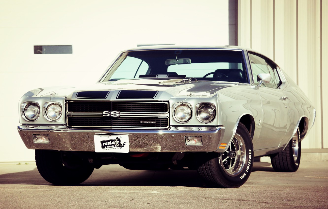 Photo wallpaper Chevrolet, Muscle, Car, Classic, Coupe, Chevy, Old, Chevelle, Muscle car, SS