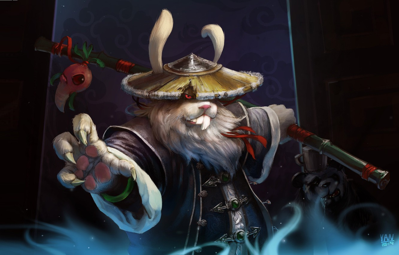 Photo wallpaper warrior, fantasy, art, children's, Yan Bing, Lich Rabbit