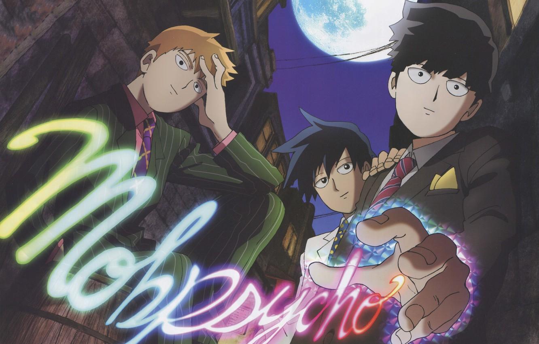 Photo wallpaper anime, art, guys, brothers, teacher, Mob Psycho 100, Kageyama Shigeo, Mob psycho 100