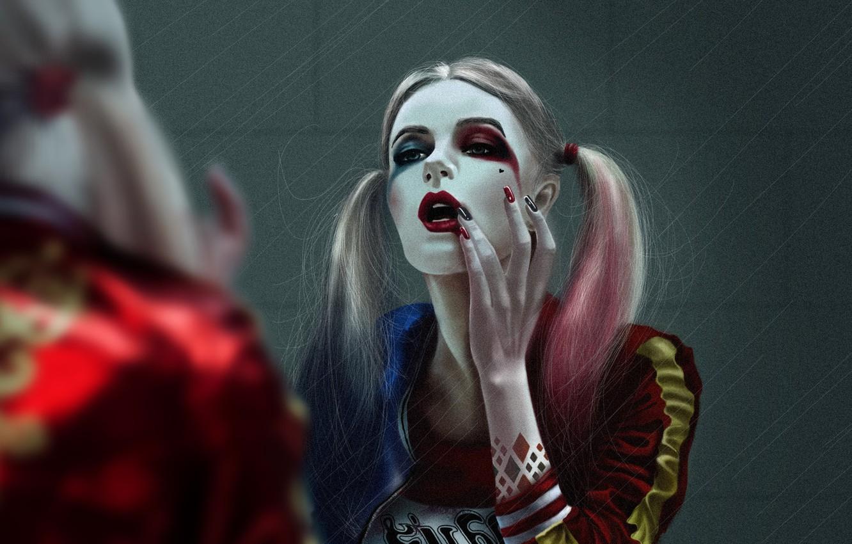 Photo wallpaper Girl, Figure, Art, Art, Harley Quinn, Comics, DC Comics, Harley Quinn, DC Art, by Kate …