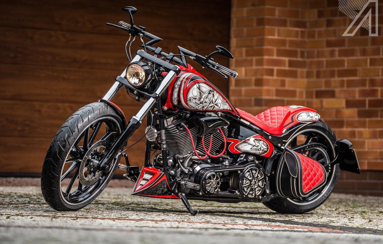 Photo wallpaper Custom, Softail, Motorbike, Breakout, H-D, Hot Star