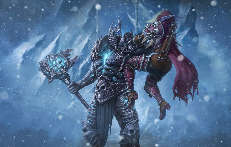 Wallpaper Winter Snow Wow Lich King Blizzard Art Paladin