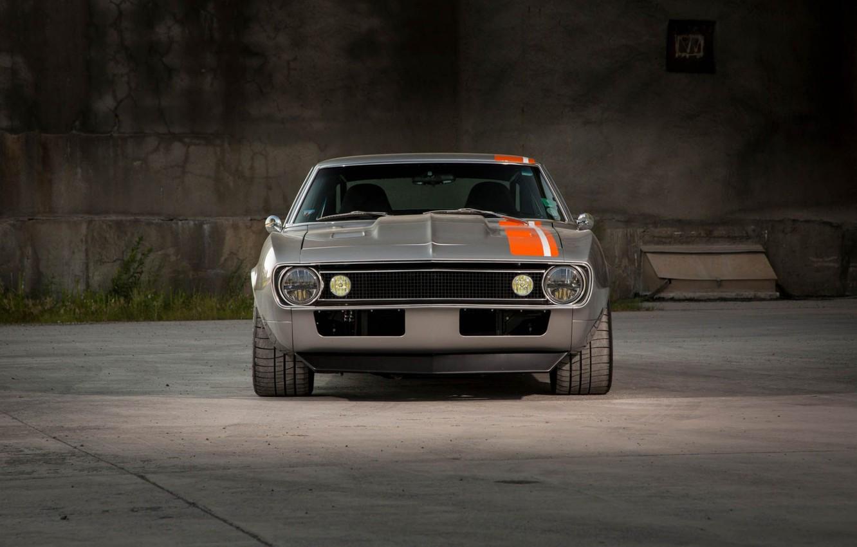 Photo wallpaper Muscle, Camaro, Car, Front