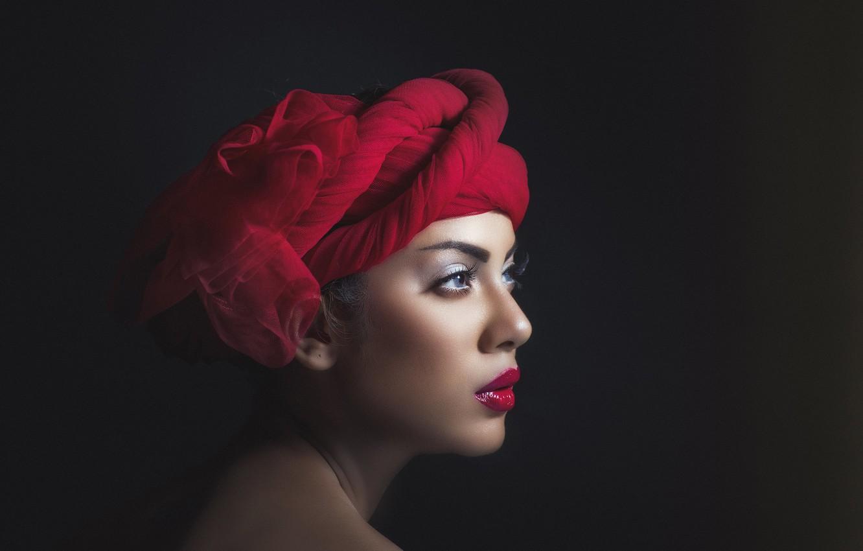 Photo wallpaper girl, portrait, makeup