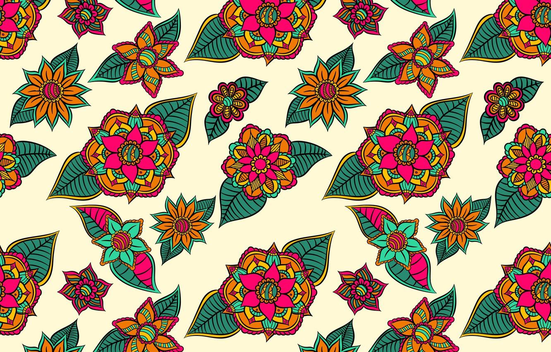 Photo wallpaper flowers, background, flower, background, pattern, Leaves, testura