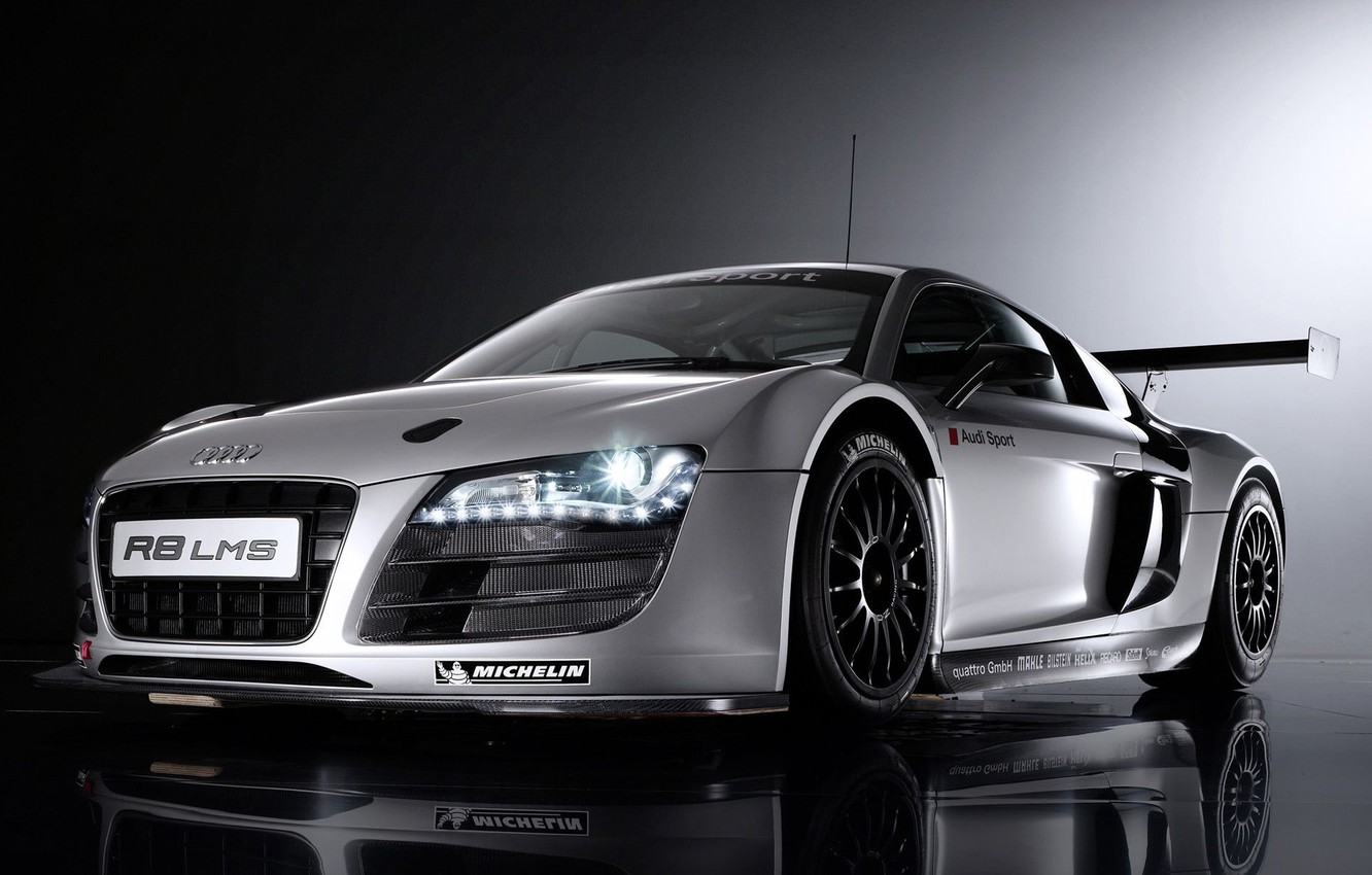 Photo wallpaper coupe, Motorsport, sports car, Audi R8 LMS, mid-engined all-wheel drive