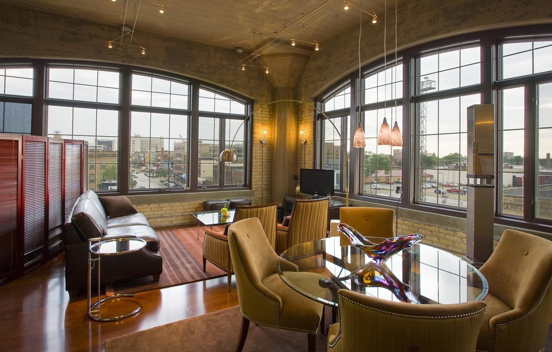 Photo wallpaper style, interior, living room, Interior, Loft, loft, Old School