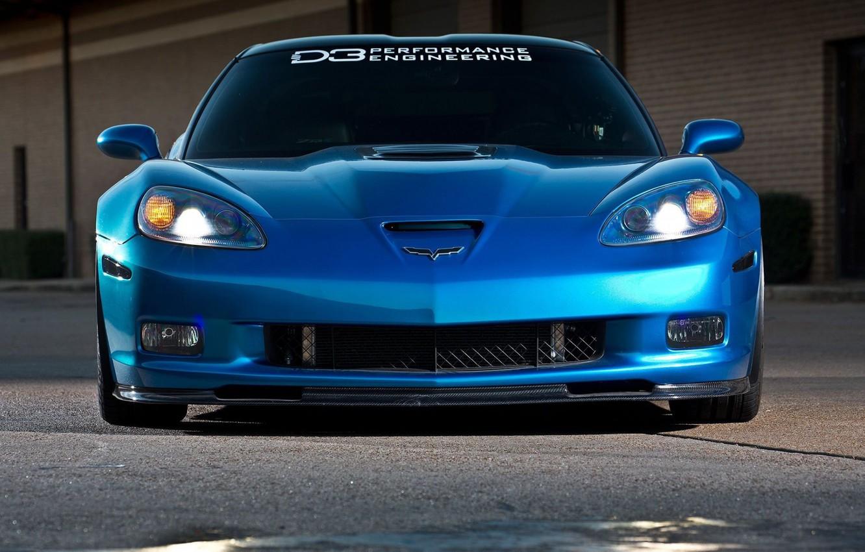 Photo wallpaper Corvette, ZR1, Blue, Modified