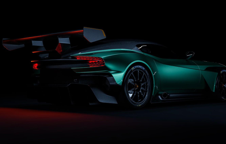 Photo wallpaper Aston Martin, Auto, Green, Machine, Rendering, Concept Art, Sports car, Vulcan, Aston Martin Vulcan, Transport …